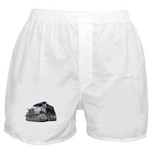 Mack Dump Truck White-Black Boxer Shorts