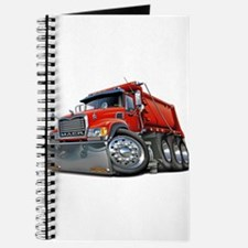 Mack Dump Truck Red Journal