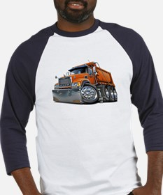 Mack Dump Truck Orange Baseball Jersey