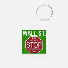 Wall Street Stop Foreclosures Keychains
