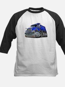 Mack Dump Truck Blue Kids Baseball Jersey