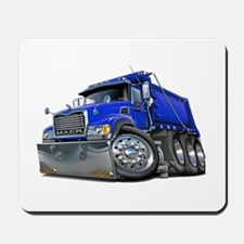 Mack Dump Truck Blue Mousepad
