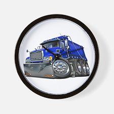 Mack Dump Truck Blue Wall Clock