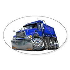 Mack Dump Truck Blue Decal