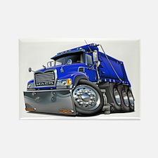Mack Dump Truck Blue Rectangle Magnet