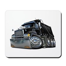 Mack Dump Truck Black Mousepad