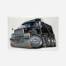 Mack Dump Truck Black Rectangle Magnet