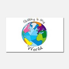 Quilter World Car Magnet 20 x 12