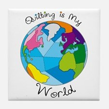 Quilter World Tile Coaster
