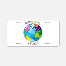 Quilter World Aluminum License Plate