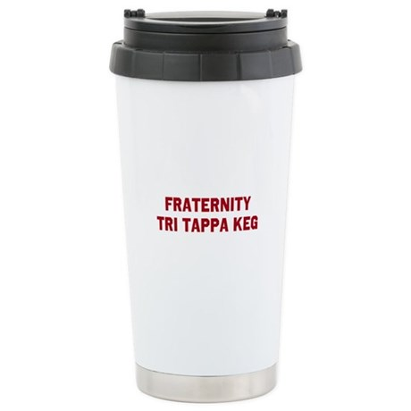 Fraternity Tri Tappa Keg Stainless Steel Travel Mu