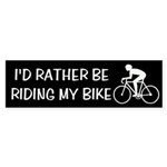 Bike Riding Bumper Sticker