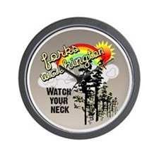 Forks Watch Your Neck Wall Clock