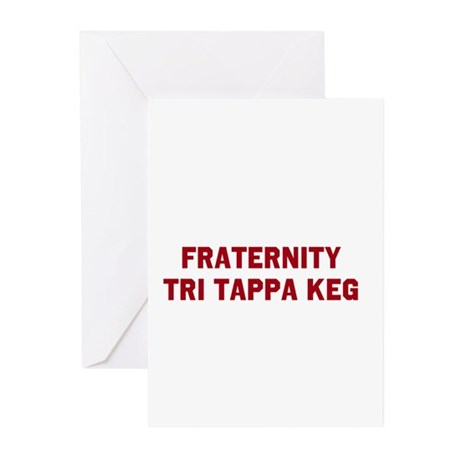Fraternity Tri Tappa Keg Greeting Cards (Pk of 20)