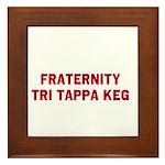 Fraternity Tri Tappa Keg Framed Tile