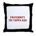 Fraternity Tri Tappa Keg Throw Pillow