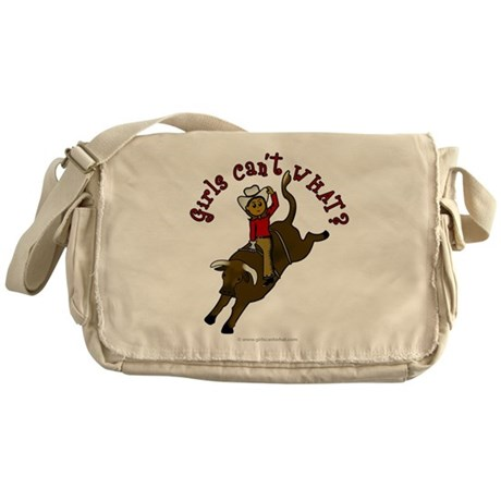Dark Bull Riding Messenger Bag