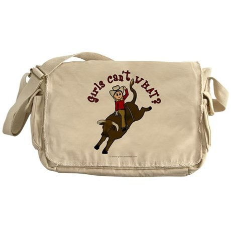 Light Bull Riding Messenger Bag