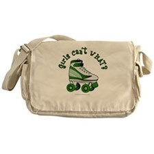 Green Roller Derby Skate Messenger Bag
