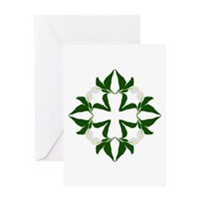 Peace lily quilt block Greeting Card