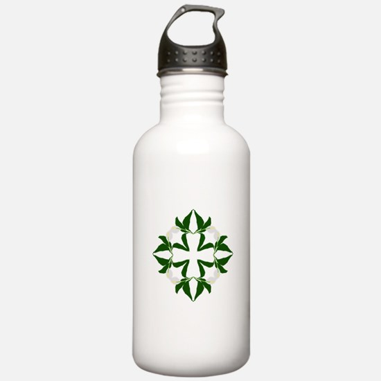Peace lily quilt block Water Bottle