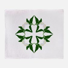 Peace lily quilt block Throw Blanket