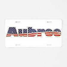 American Aubree Aluminum License Plate