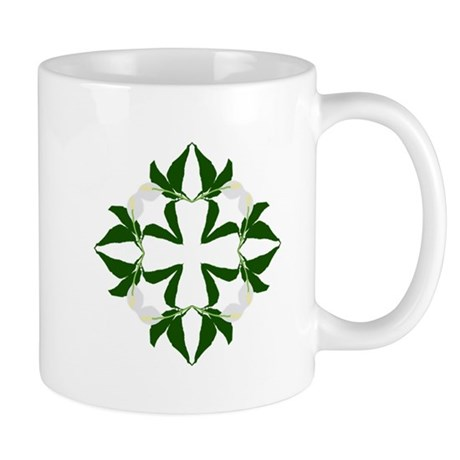Peace lily quilt block Mugs