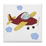 Giraffe - Airplane Tile Coaster