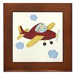 Giraffe - Airplane Framed Tile