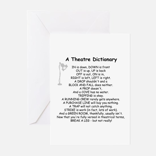 A Theatre Dictionary Greeting Cards (Pk of 10)