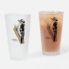 Downy Woodpecker Drinking Glass