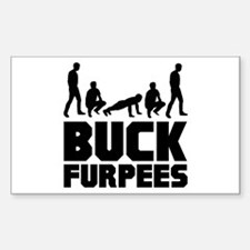 Buck Furpees Burpees Fitness Decal