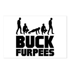 Buck Furpees Burpees Fitness Postcards (Package of
