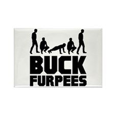 Buck Furpees Burpees Fitness Rectangle Magnet (100