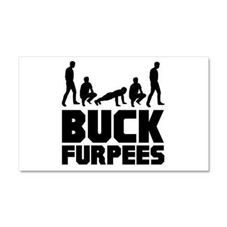 Buck Furpees Burpees Fitness Car Magnet 20 x 12