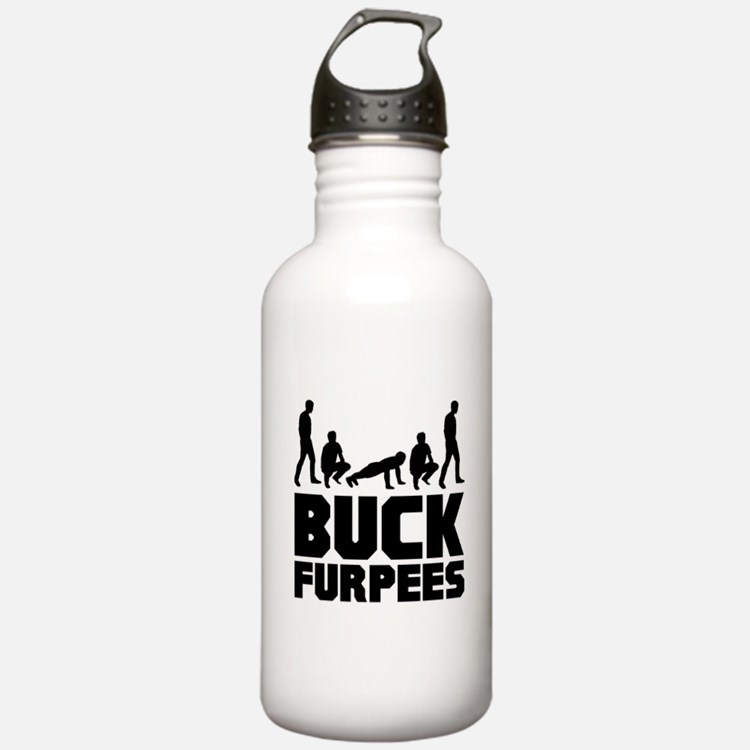 Buck Furpees Burpees Fitness Water Bottle