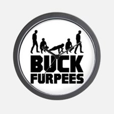 Buck Furpees Burpees Fitness Wall Clock
