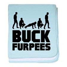 Buck Furpees Burpees Fitness baby blanket