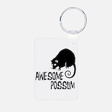 Awesome Possum Aluminum Photo Keychain