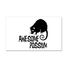 Awesome Possum Car Magnet 20 x 12