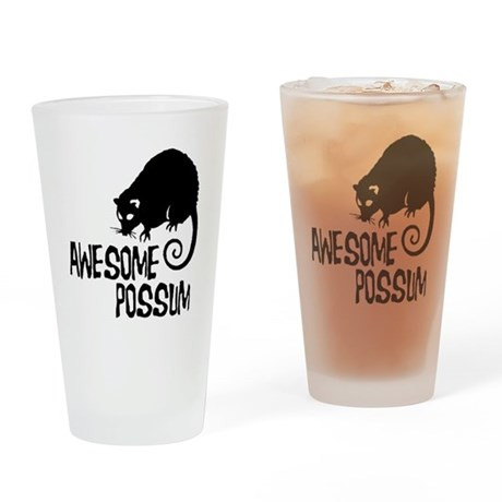 Awesome Possum Drinking Glass