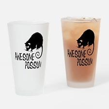 Awesome Possum Drinking Glass