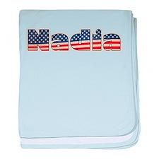 American Nadia baby blanket