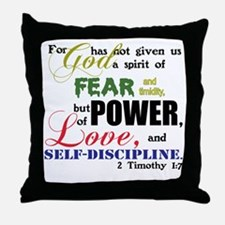 Power, Love, Self-discipline Throw Pillow