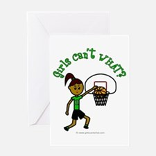Dark Green Basketball Greeting Card