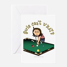 Light Billiards Greeting Card
