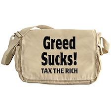 Greed Sucks Tax The Rich Messenger Bag