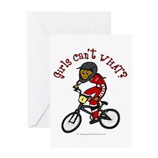 Dark Red BMX Greeting Card