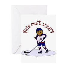 Dark Hockey Greeting Card